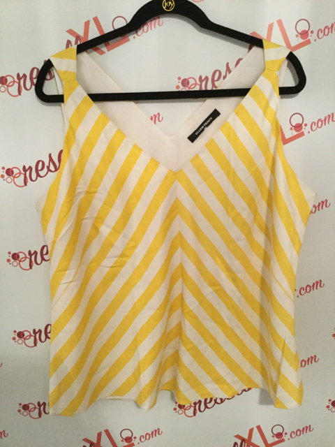 Ellen-Tracy--Size-XL-Yellow-and-White-Chevron-Print-Tank-Top_2903A.jpg