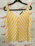 Ellen-Tracy--Size-XL-Yellow-and-White-Chevron-Print-Tank-Top_2903A.jpg