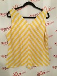 Ellen-Tracy--Size-XL-Yellow-and-White-Chevron-Print-Tank-Top_2903B.jpg