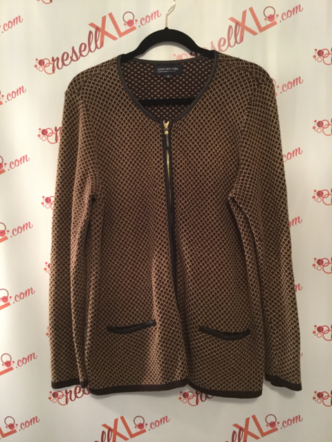 Jones-New-York-Size-1X-Brown-Cardigan-with-Faux-Leather-Trim_2894A.jpg