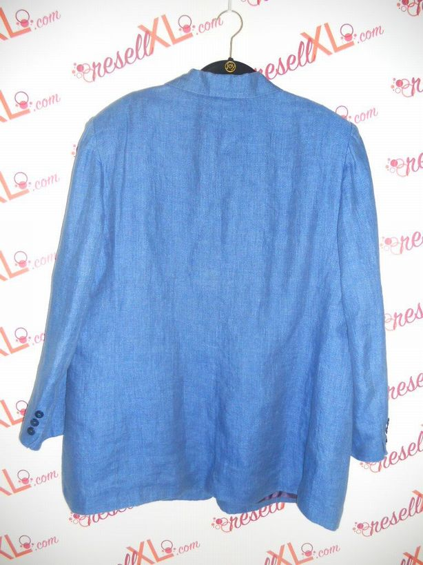 Jones-New-York-Size-XL-Royal-Blue-Linen-Blazer-Jacket_2970B.jpg