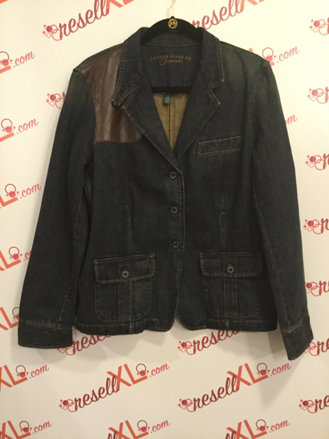 Lauren-by-Ralph-Lauren-Size-XL-Denim-Jacket-w-Leather-Garniture_3084A.jpg