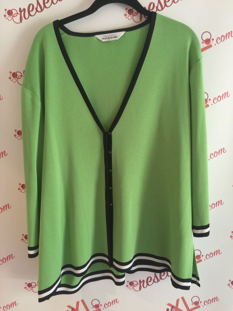 Misook-Size-1X-Apple-Green-Sweater---V-neck-button-down_2990A.jpg