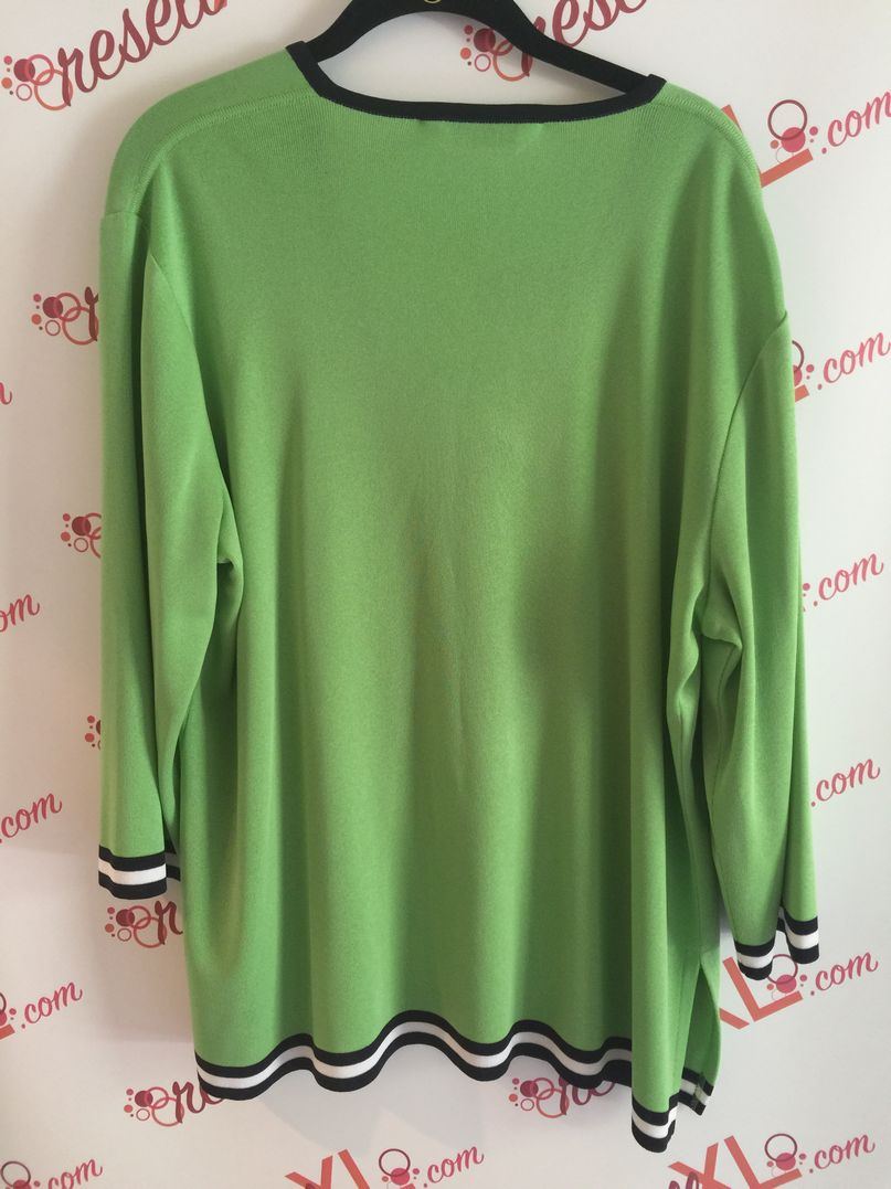 Misook-Size-1X-Apple-Green-Sweater---V-neck-button-down_2990B.jpg