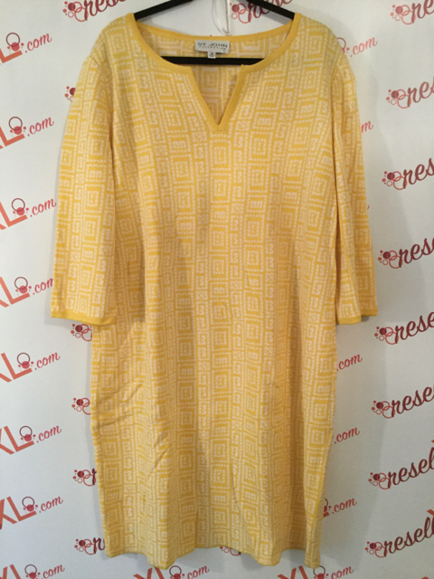 St.-John-Collection-Size-16-Yellow-Geometric-Print-34-Sleeve-Shift-Dress_3182A.jpg