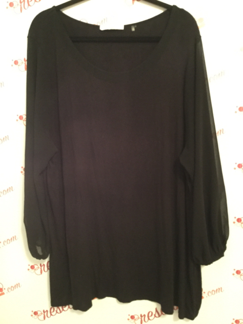 Tahari-Size-3X-Black-Tunic-with-Sheer-Bell-Sleeves_2856A.jpg