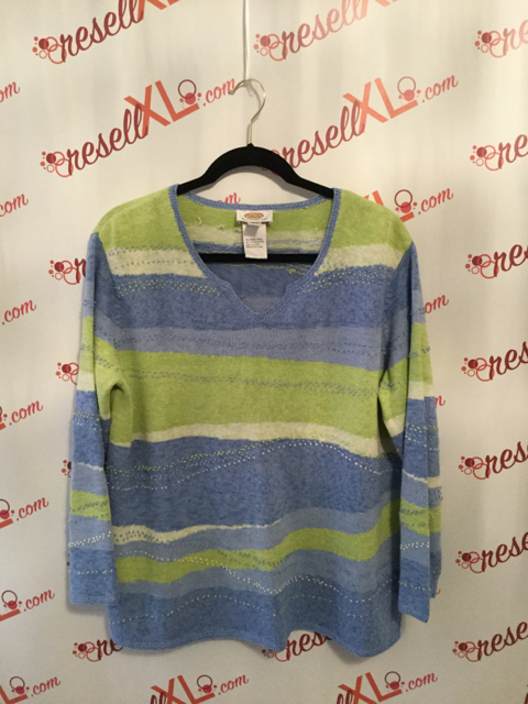 Talbots-Size-1X-Green-and-Blue-Stripe-Sweater_2886A.jpg