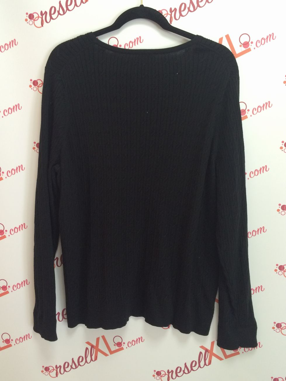 Talbots-Size-2X-Black-Pima-V-neck-Cable-Knit-Shirt_2991B.jpg