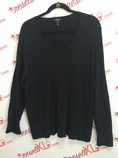 Talbots-Size-2X-Black-Pima-V-neck-Cable-Knit-Shirt_2991A.jpg
