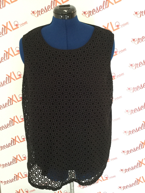 Talbots-Size-2X-Black-Sleeveless-Shell-wFun-Circle-Pattern_3206A.jpg