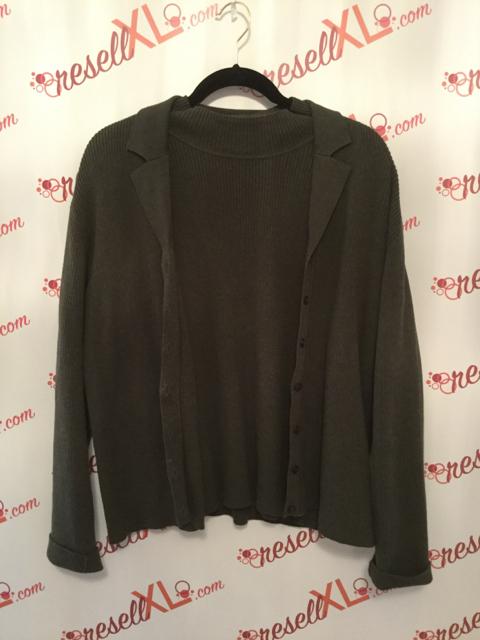 Talbots-Size-XL-2-PC-Green-Cardigan---Short-Sleeve-Sweater_2885A.jpg