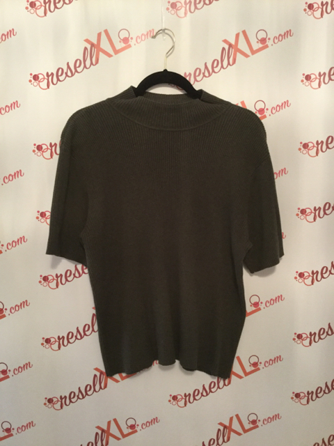 Talbots-Size-XL-2-PC-Green-Cardigan---Short-Sleeve-Sweater_2885B.jpg