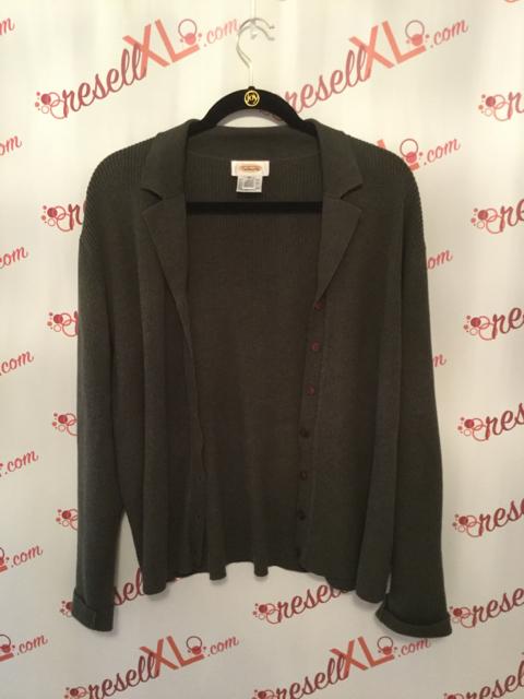 Talbots-Size-XL-2-PC-Green-Cardigan---Short-Sleeve-Sweater_2885E.jpg
