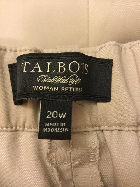 Talbots-Woman-Petites-Size-20W-Light-Beige-Pants_3147B.jpg