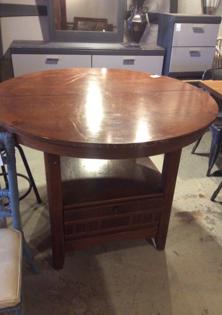 Brown Wood Expanding Dining Table