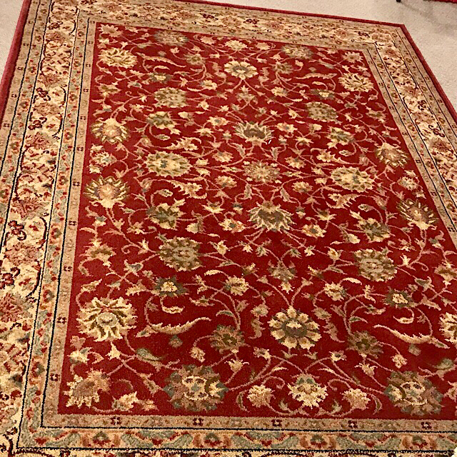 Shaw Living Palace Kashan Red Olefin Area Rug Consign To Design