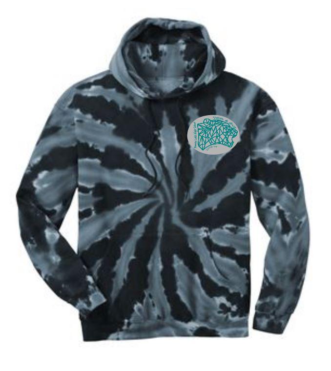 fd2ff116e165 BLHS Swim   Dive Black Tie Dye New Sweatshirt Hoodie