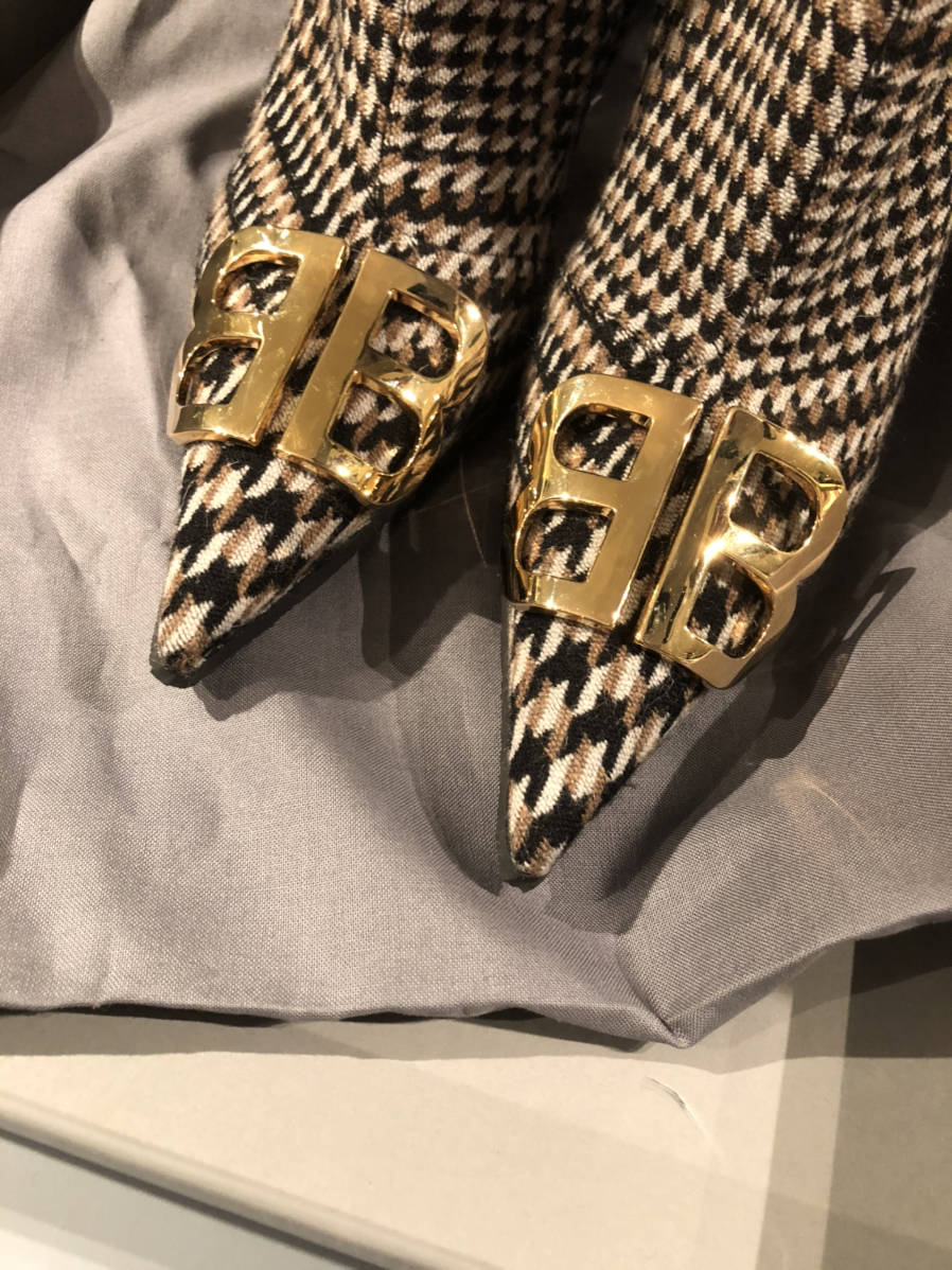 Balenciaga-Kniife-Logo-Embellished-Sz-37.5-Prince-of-Wales-Tweed-Ankle-Boots_15524F.jpg
