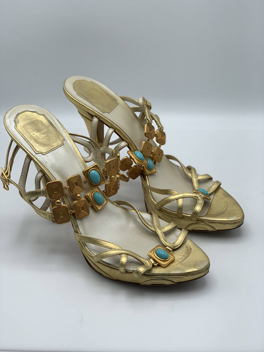 Christian-Dior-Shoe-Gold-Strap-Heel-Metal--Turquoise-Embellishments-40.5_12910A.jpg