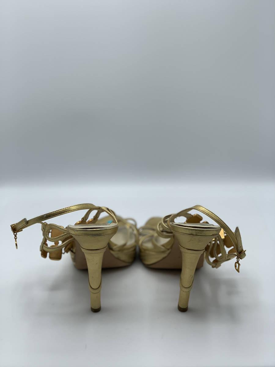 Christian-Dior-Shoe-Gold-Strap-Heel-Metal--Turquoise-Embellishments-40.5_12910E.jpg