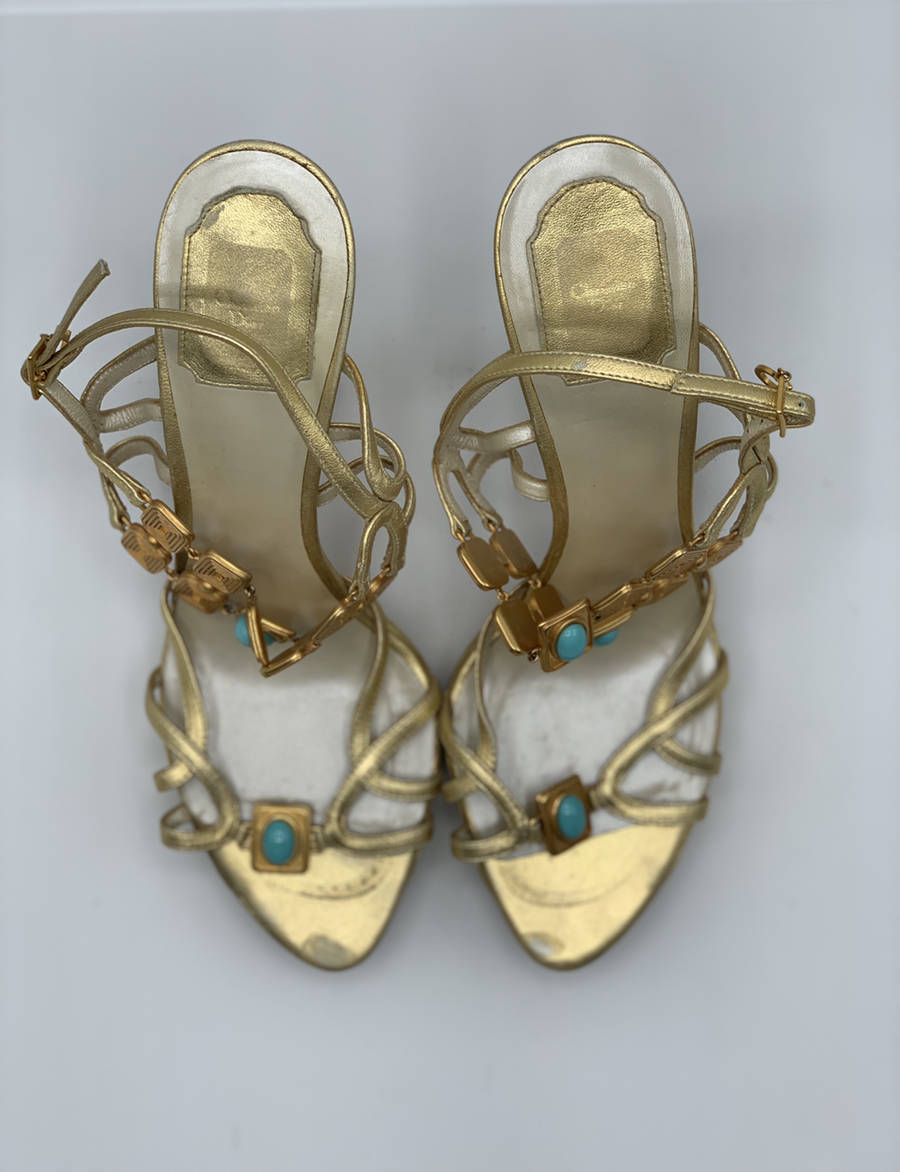 Christian-Dior-Shoe-Gold-Strap-Heel-Metal--Turquoise-Embellishments-40.5_12910G.jpg