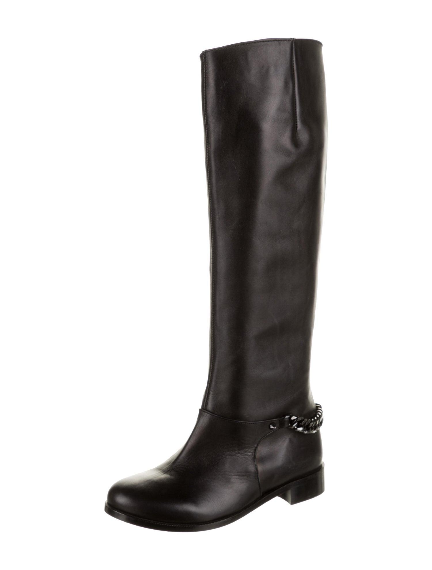 Christian-Louboutin-Cate-Leather-Knee-Boot-Chain-Detail-Sz-38.5-Shoe-Moto_16197B.jpg
