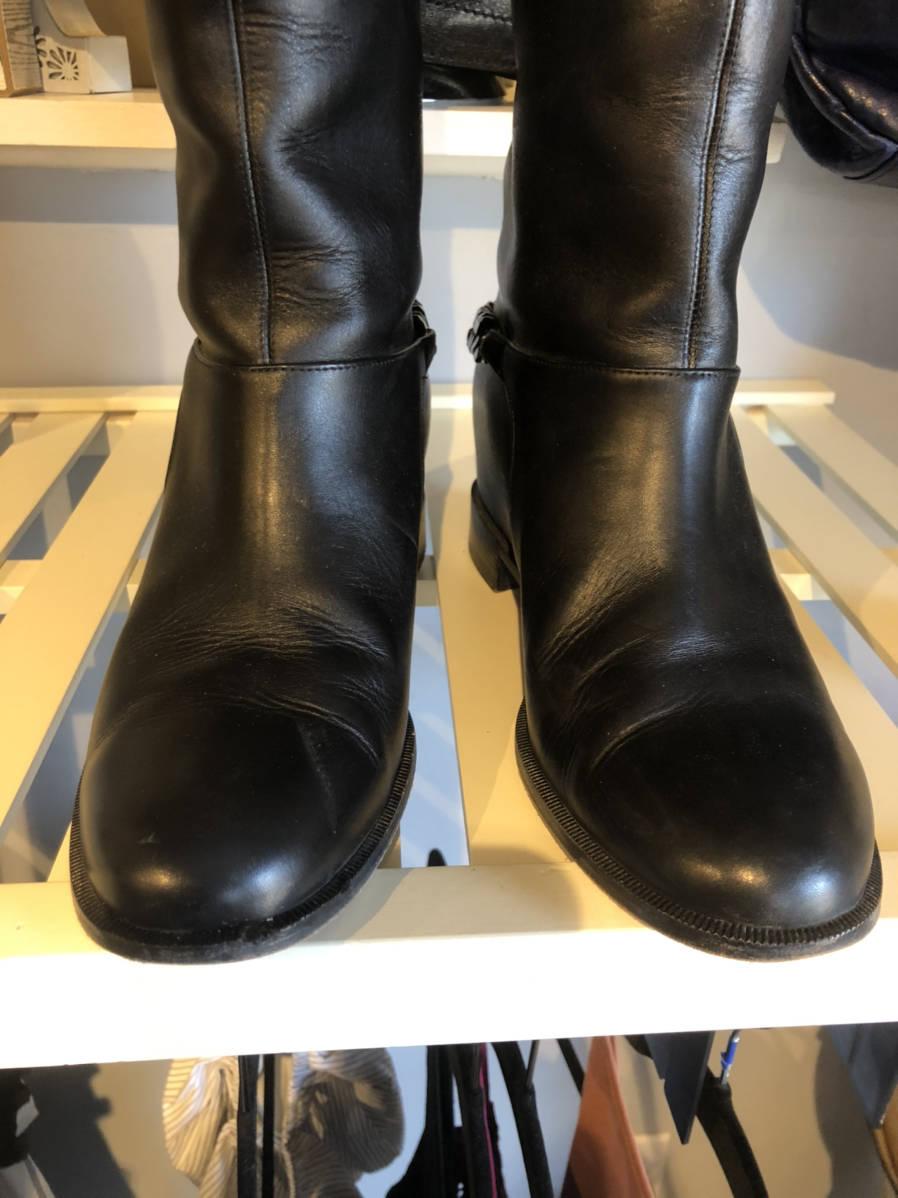 Christian-Louboutin-Cate-Leather-Knee-Boot-Chain-Detail-Sz-38.5-Shoe-Moto_16197E.jpg