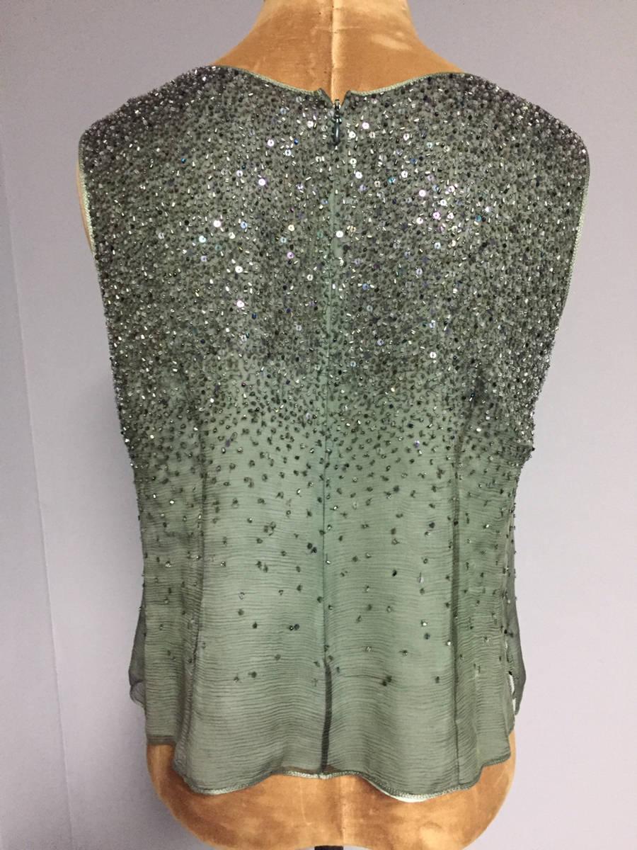 Designer Neil Bieff Couture 3 Pc Beaded Silk Pant Suit Wedding ...