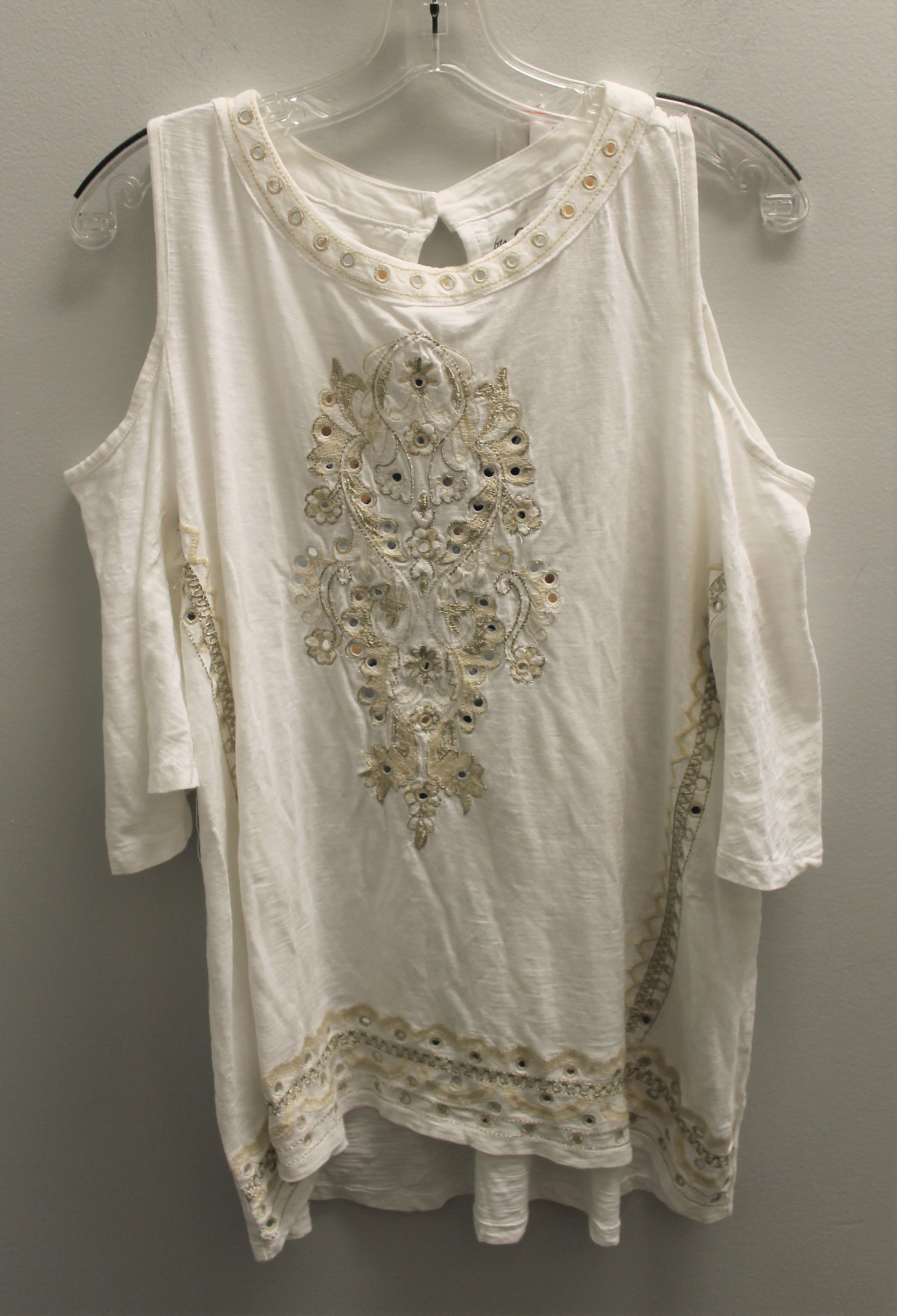 CHICOS-Size-M-white-and-gold-Cotton-Blend-Embroidered-Short-Sleeve-Top_89490A.jpg