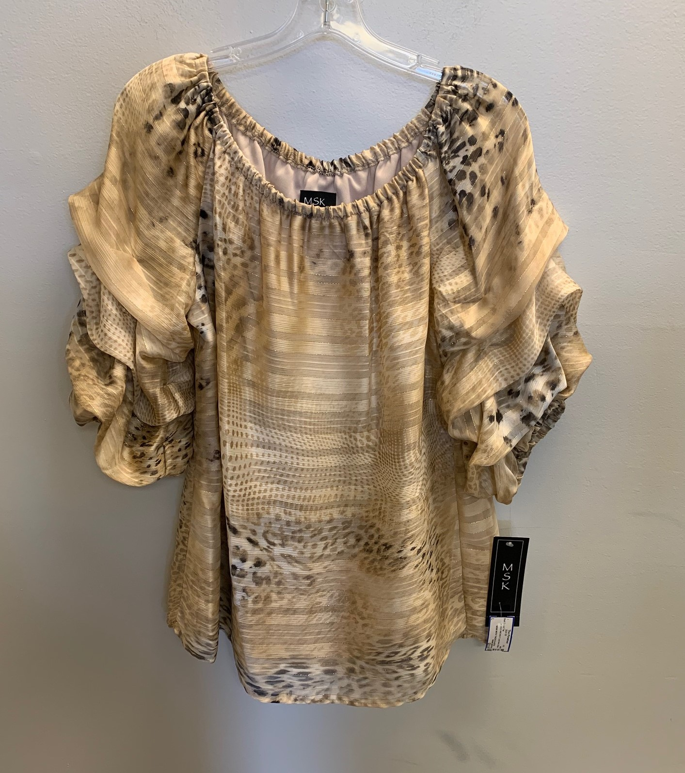 MSK-Size-L-GOLD-AND-MULTI-poly-blend-SALE-Short-Sleeve-Top_85373A.jpg