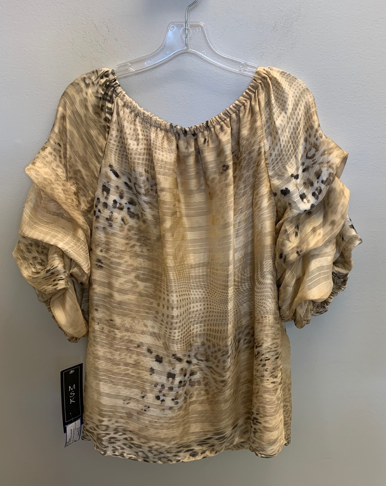 MSK-Size-L-GOLD-AND-MULTI-poly-blend-SALE-Short-Sleeve-Top_85373F.jpg