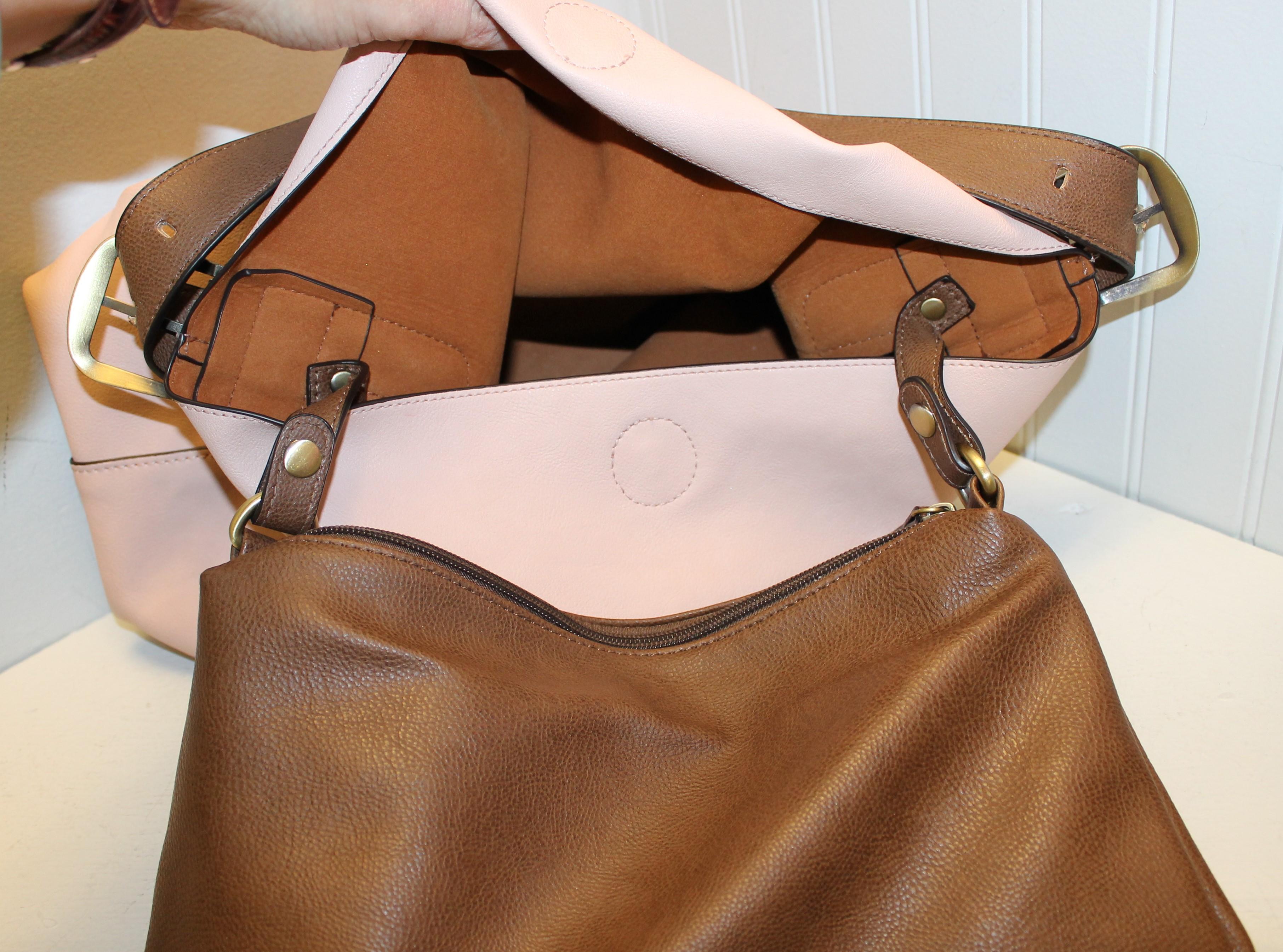 SUSAN-JOY-PALE-PINK-AND-BROWN-Leather-Solid-SHOULDER-BAG_88567F.jpg