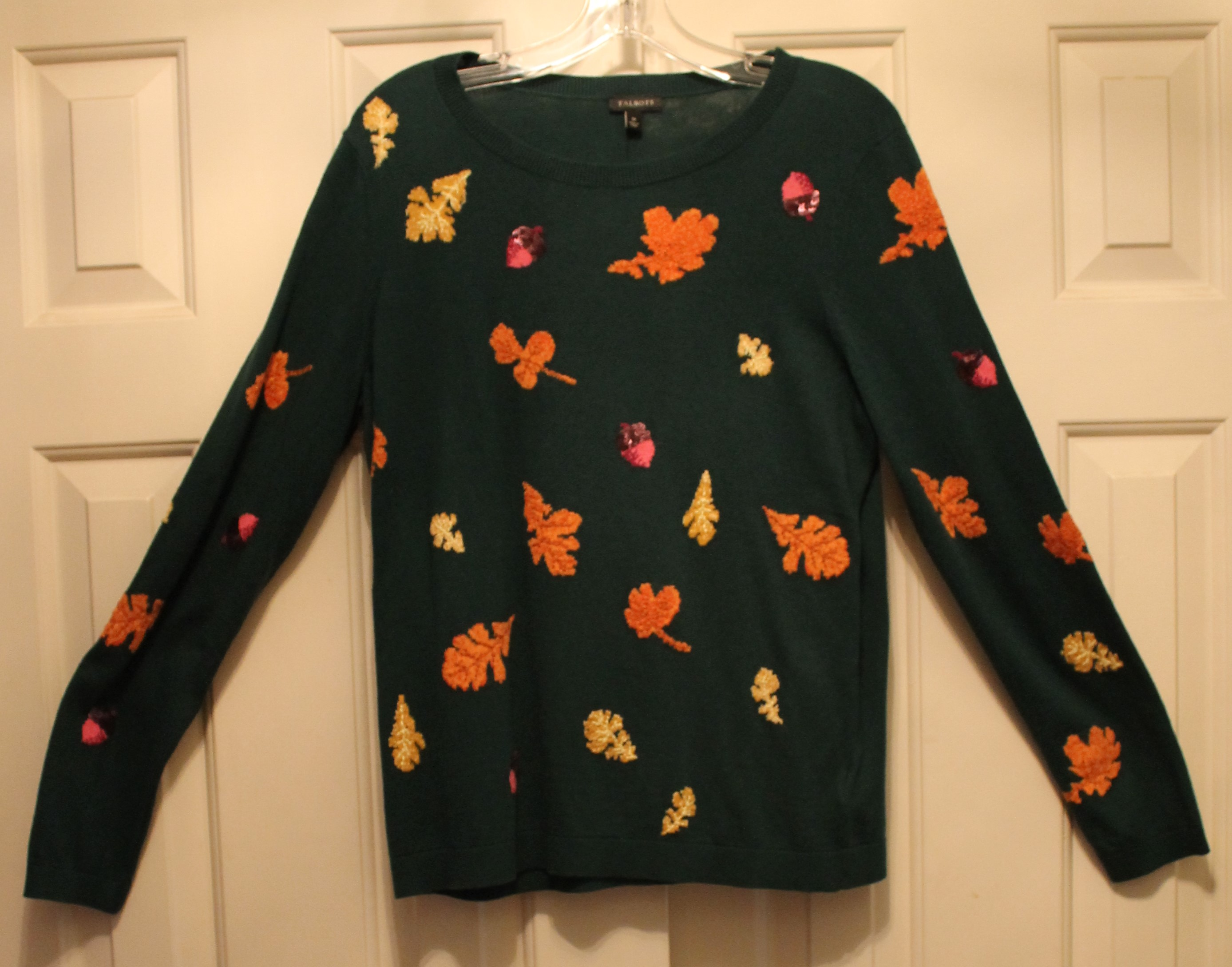 Talbots-Size-M-Green-Cotton-Blend-AUTUMN-Long-Sleeve-Top_64049B.jpg