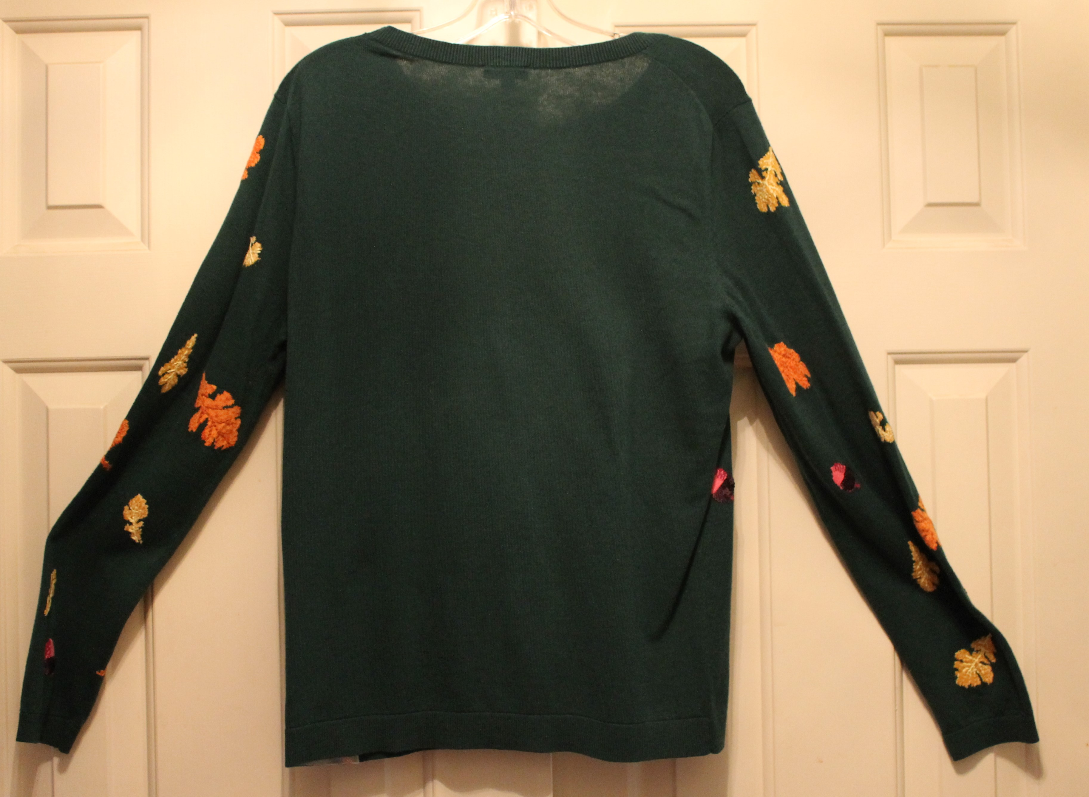 Talbots-Size-M-Green-Cotton-Blend-AUTUMN-Long-Sleeve-Top_64049E.jpg