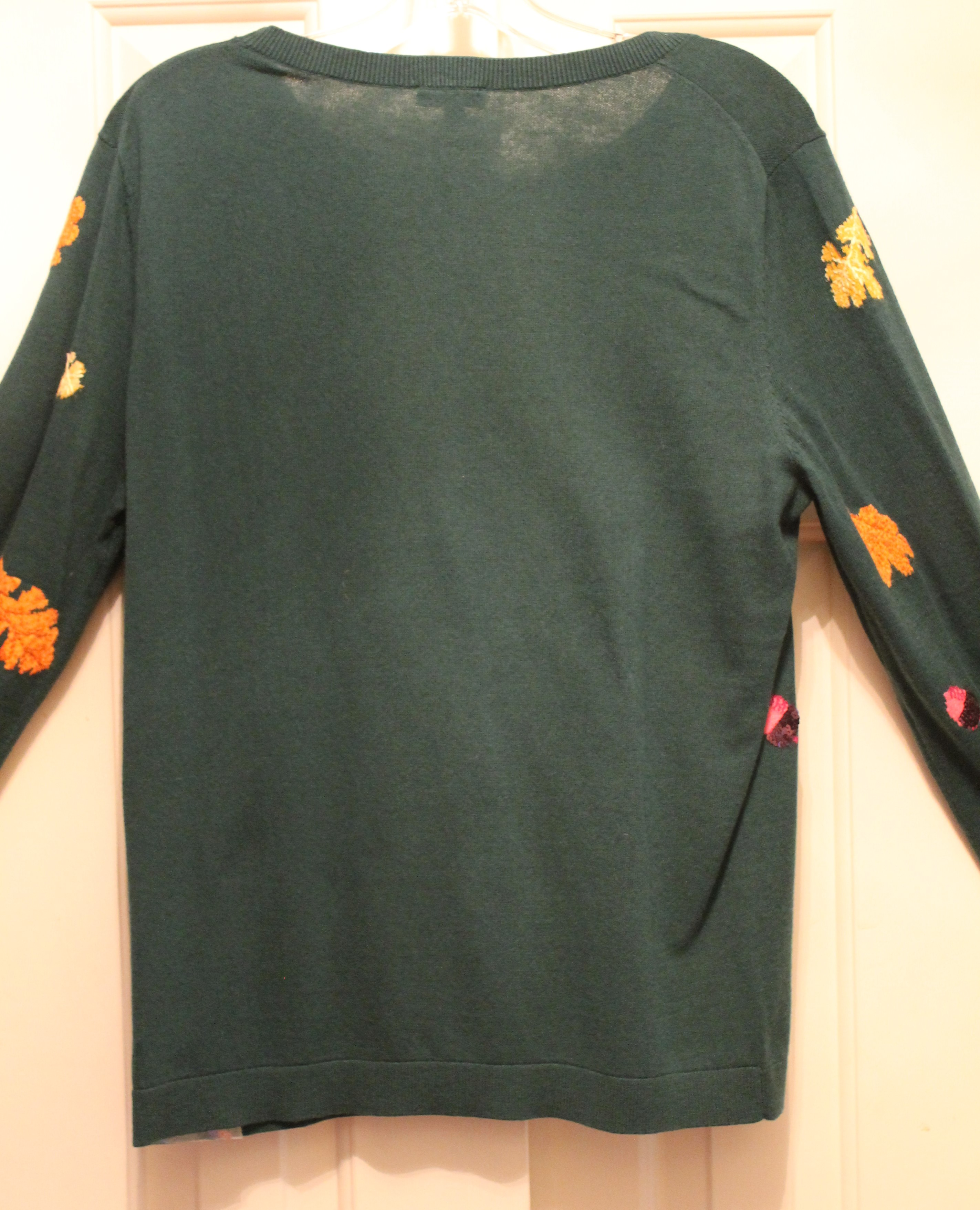 Talbots-Size-M-Green-Cotton-Blend-AUTUMN-Long-Sleeve-Top_64049F.jpg