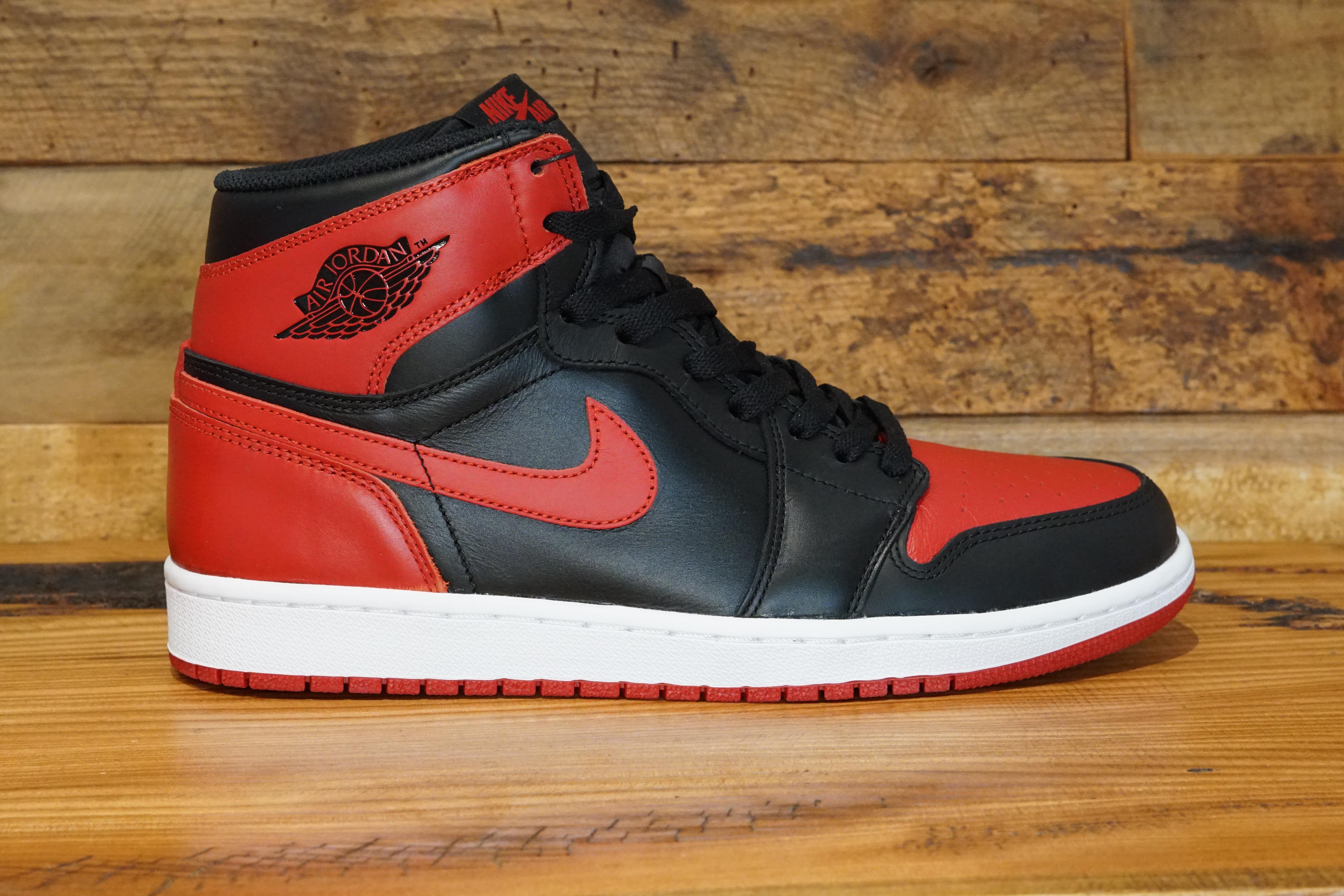 2e9363b9c59f ... 2013 New Original Box Size 13 (2-33). Air-Jordan-1-Retro-High-OG-BRED- Size-
