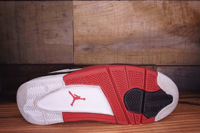 Air Jordan 4 Negro Rojo Aplicación De Láser 1EtFS9Dwg6