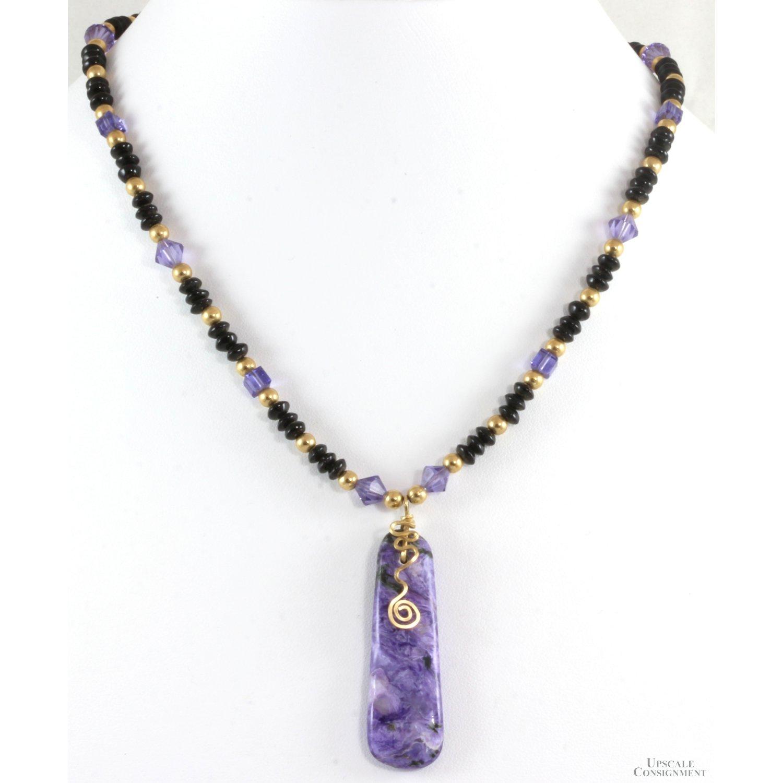 Handmade-14K-Gold-Charoite-Pendant-wAmethyst-14K-Gold--Crystal-Bead-Necklace_92785A.jpg