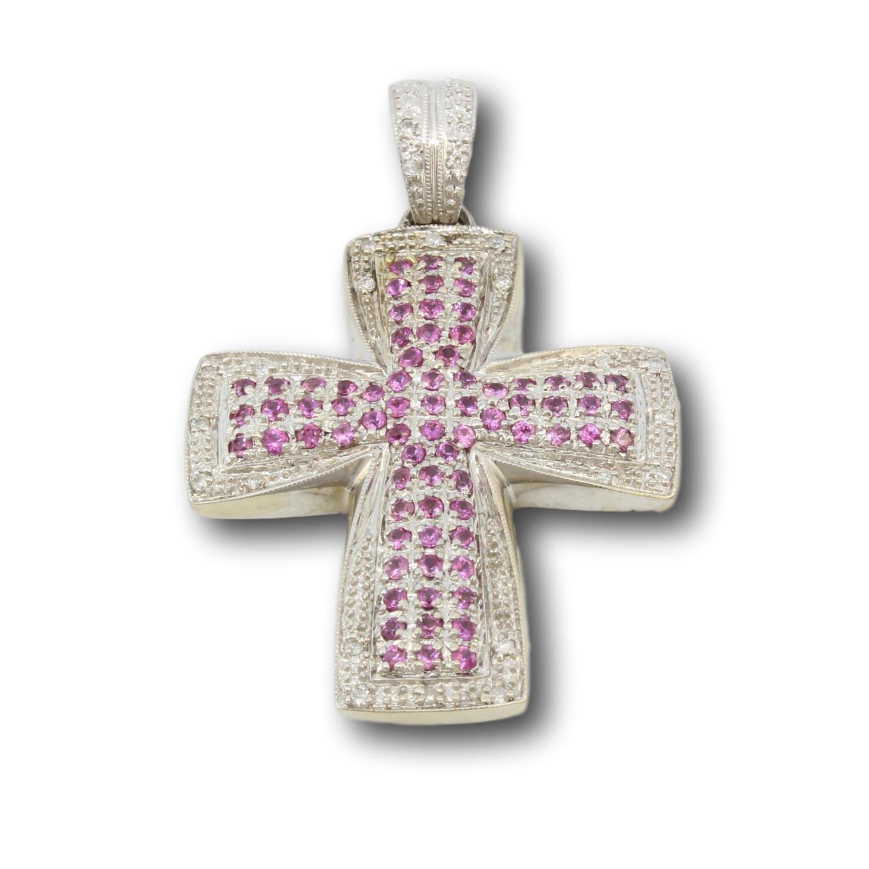 Handmade-John-C.-Rinker-14K-2.39ctw-Pink-Sapphire--.22ctw-Diamond-Cross-Pendant_80314A.jpg