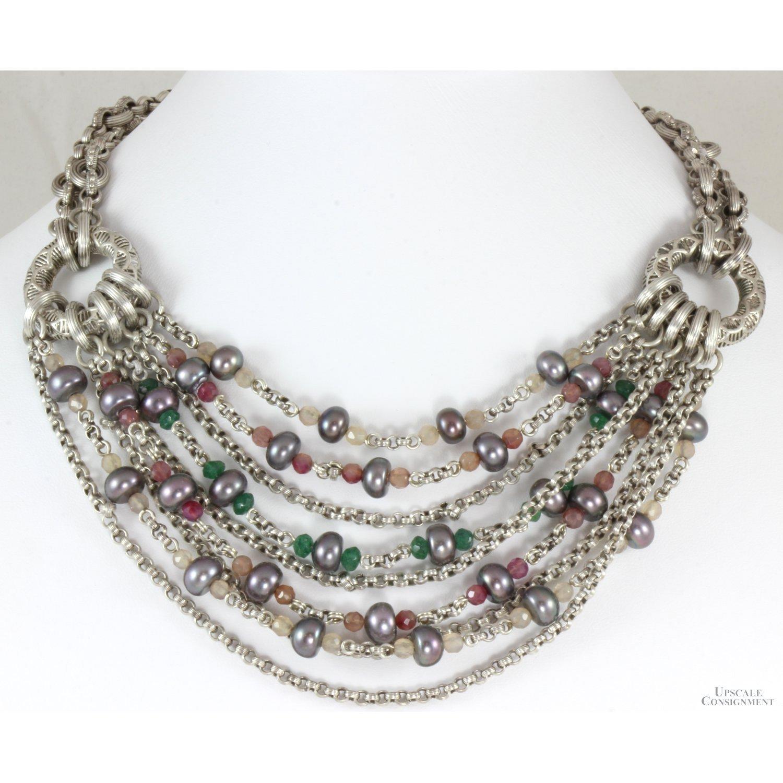 Michael-Dawkins-Multi-Strand-Sterling-Silver-Pearl--Gemstone-Necklace_92809A.jpg