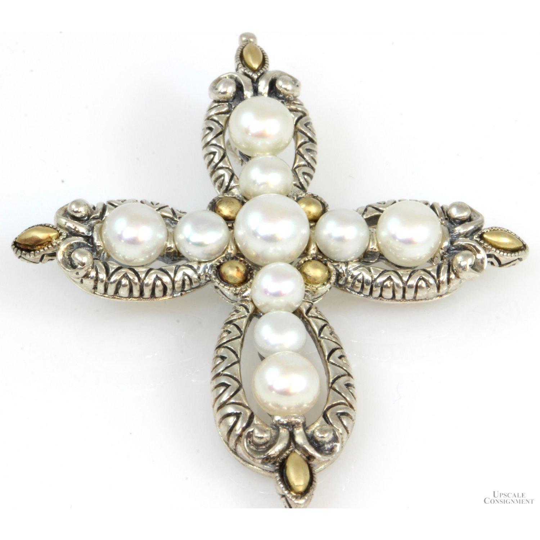 Sterling-Silver--18K-Gold-Pearl-Cross-Pendant-Enhancer_90074A.jpg