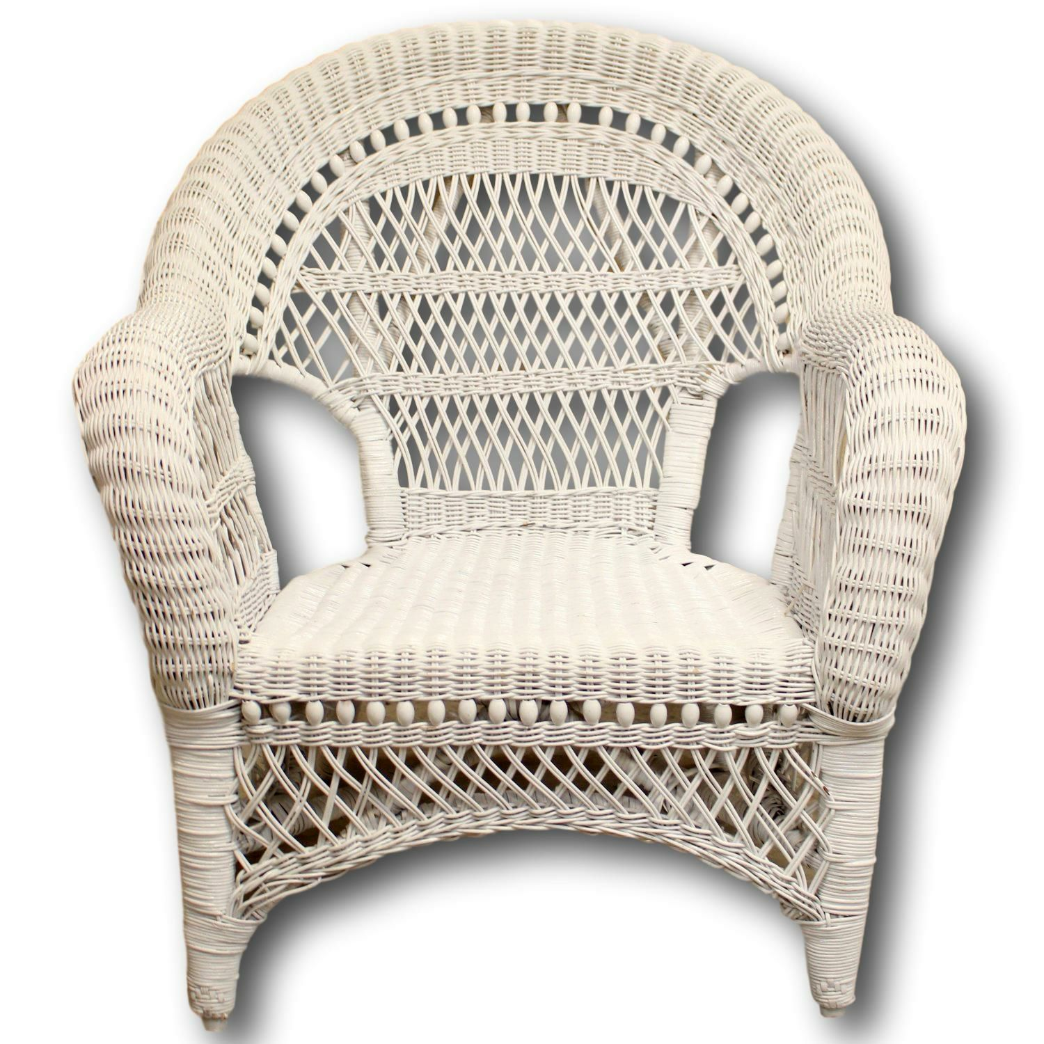 Awesome White Wicker Chair Upscale Consignment Ncnpc Chair Design For Home Ncnpcorg