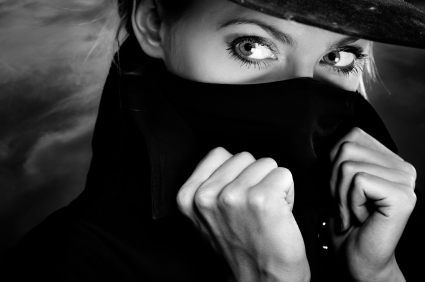 female spy undercover