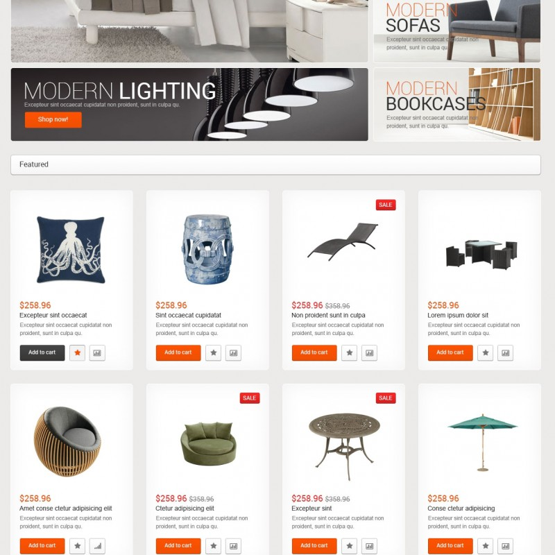 Furniture company website designed by De-Greenpace