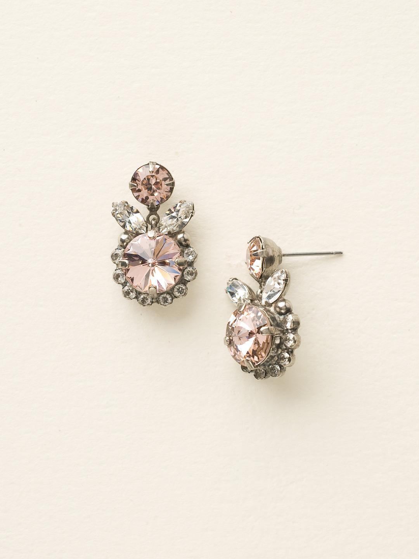 Fancy Flutter Earring in Crystal Rose