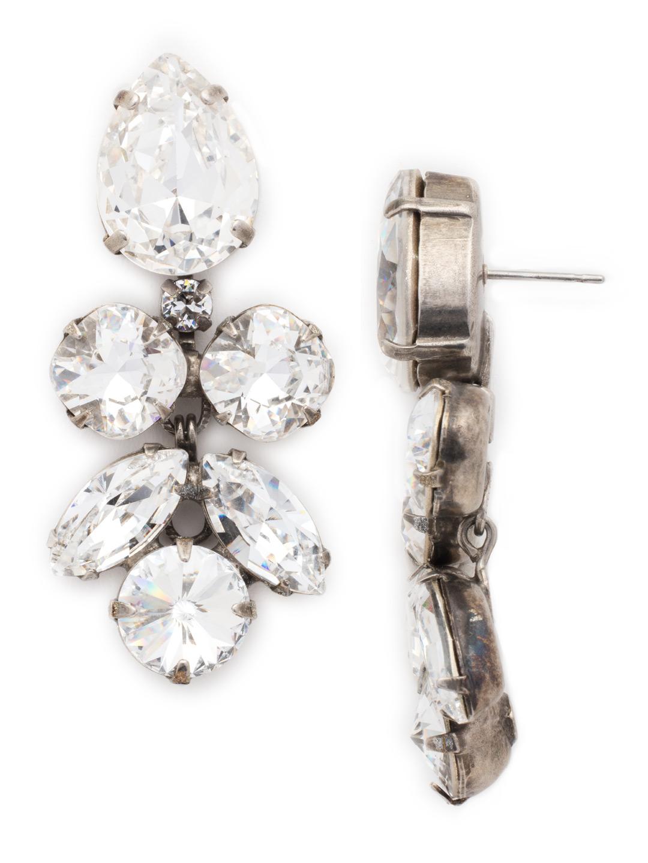 Crystal Lotus Flower Earring In Clear Crystal Sorrelli Jewelry