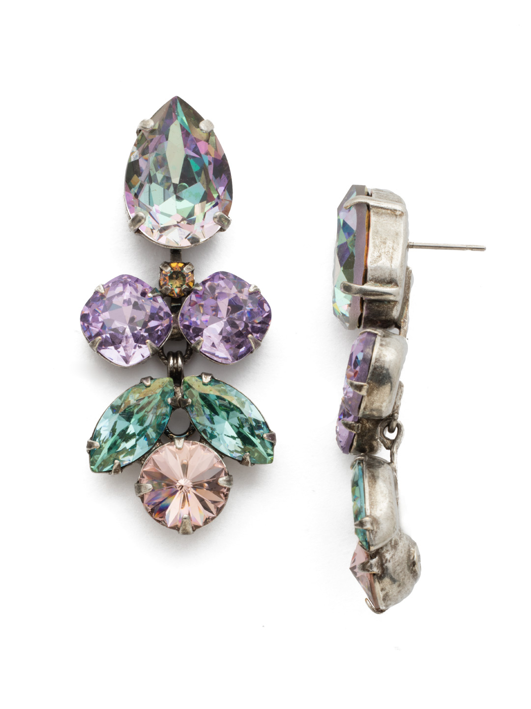 Crystal Lotus Flower Earring In Lilac Pastel Sorrelli Jewelry