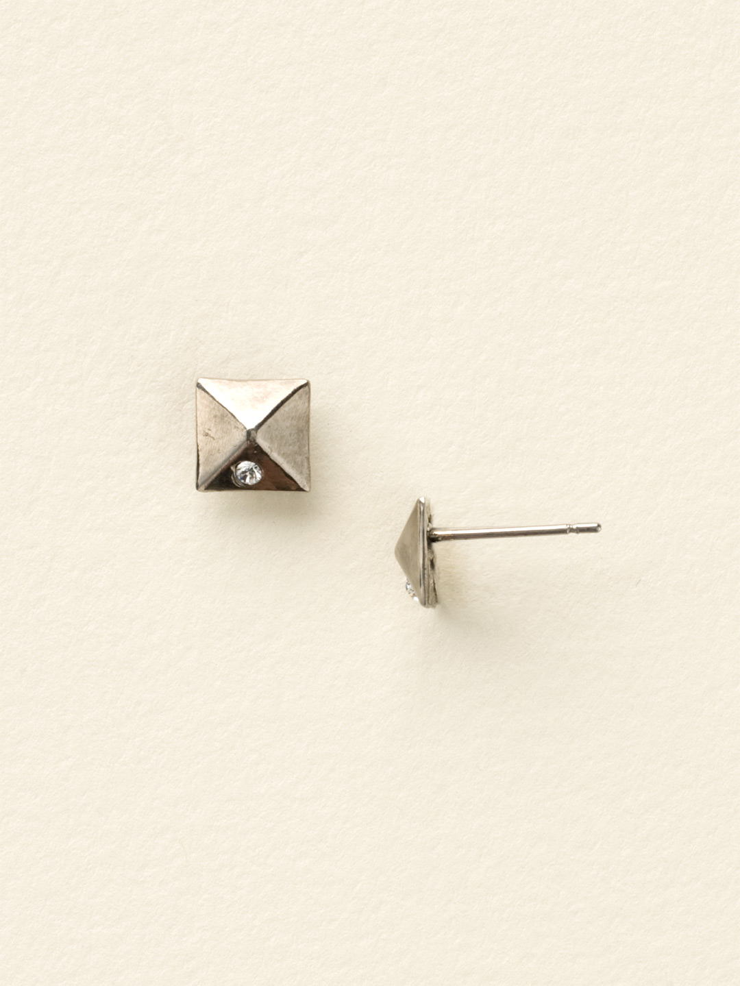 pyramid studs earrings miniature pyramid stud earring clearance in clear 6608