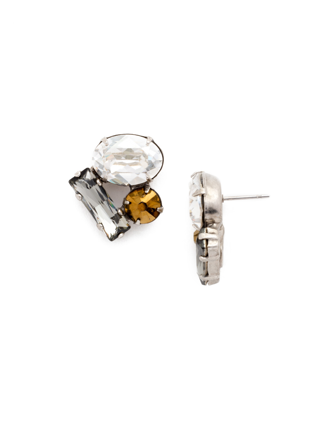 gem cluster studs earrings jewelry and shop diamond