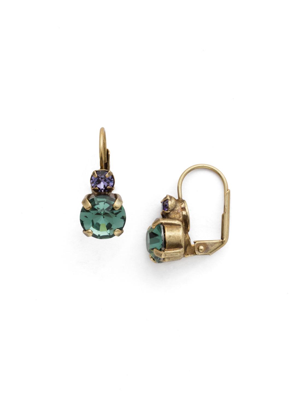 Round Crystal French Wire Earring in Jewel Tone | Sorrelli Jewelry